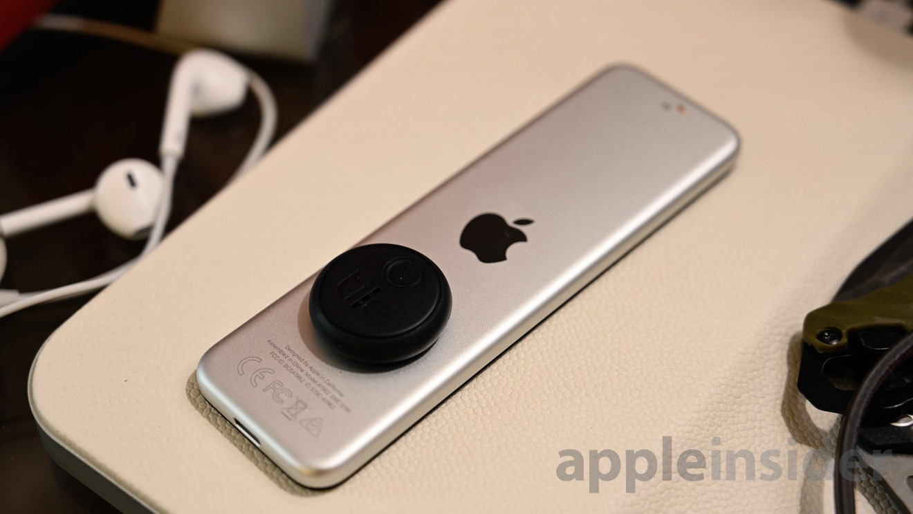 Tile Sticker on the Apple TV Siri remote