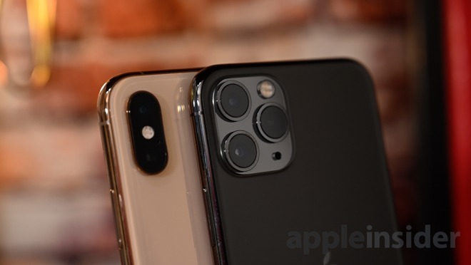 Cameras on the back of the iPhone XS and the iPhone 11 Pro