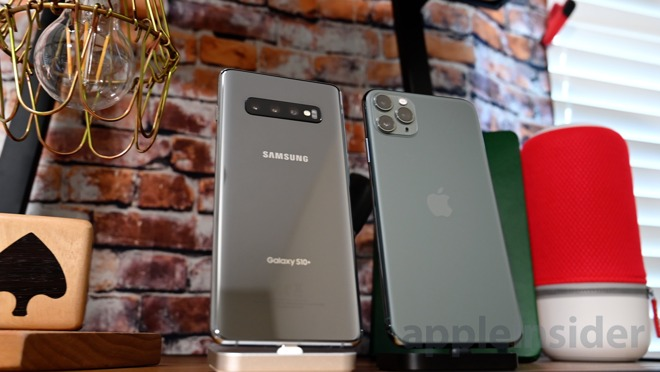 The Galaxy S10+ and the iPhone 11 Pro Max