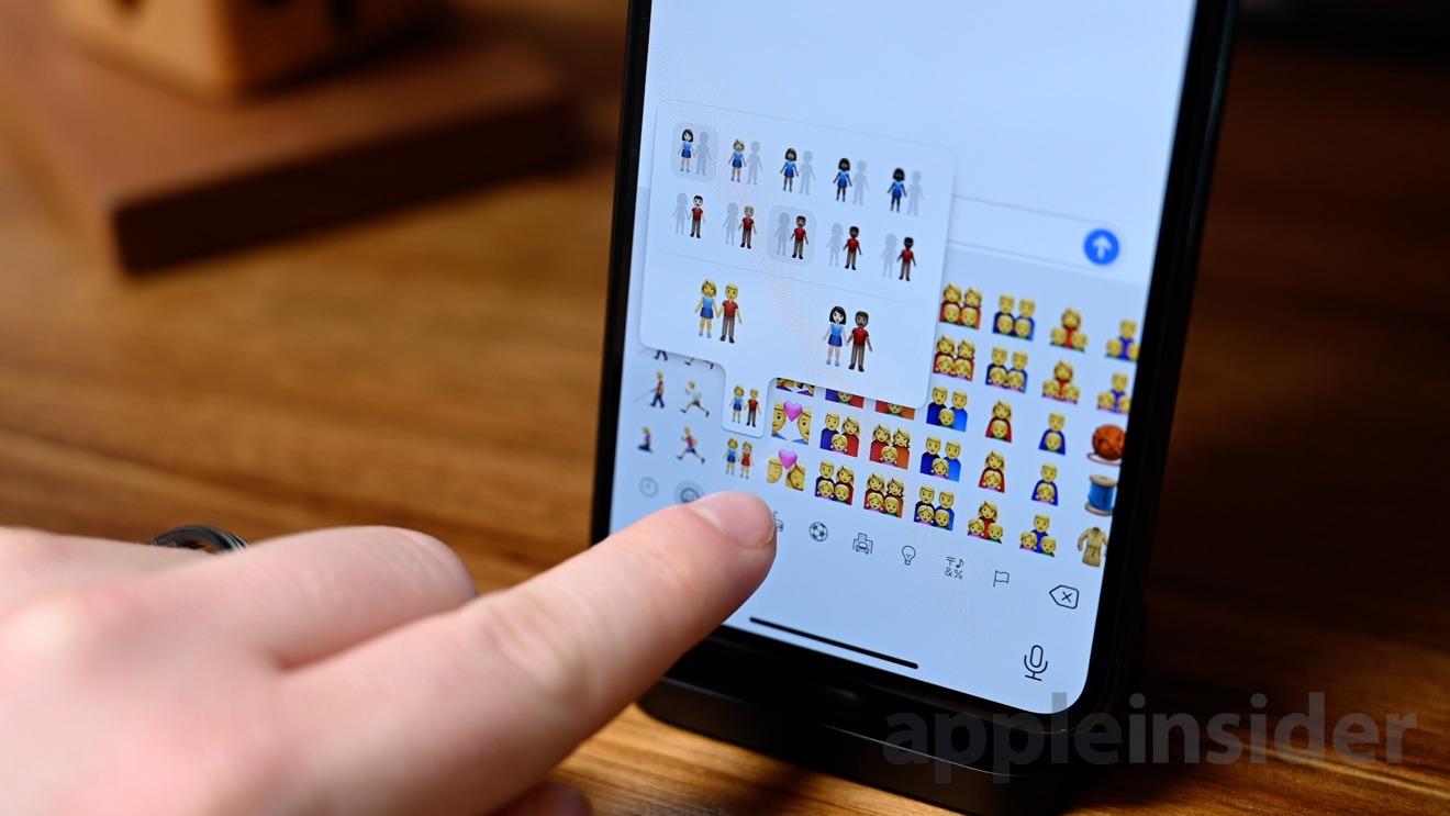 The new couple emoji picker