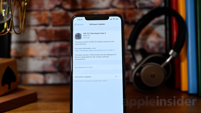 Second beta of iOS 13.2