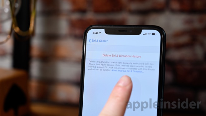 Delete your Siri history in iOS 13.2