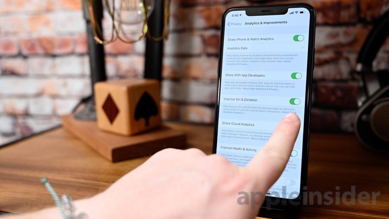 Toggle to help improve Siri in iOS 13.2