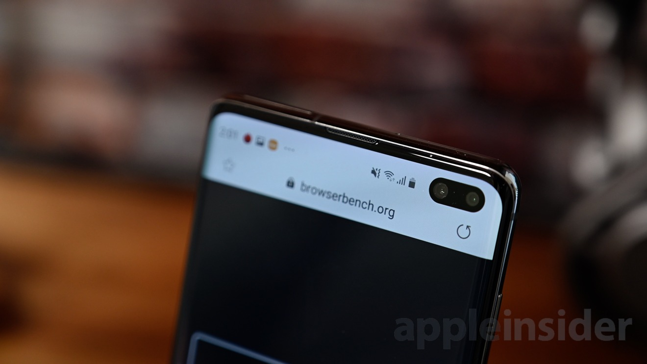 The camera punch out occupies the status bar regardless