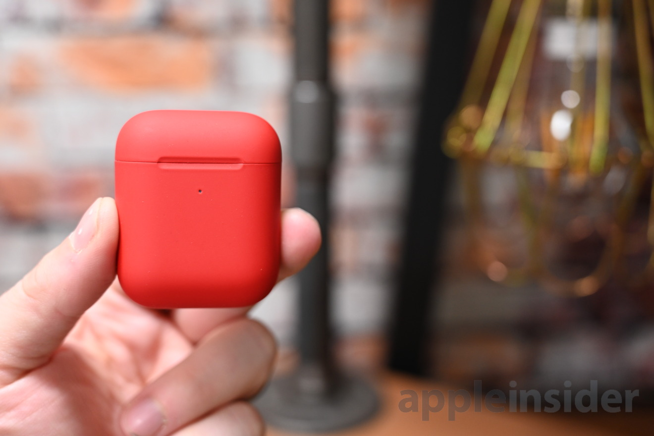 ColorWare's custom painted AirPods 2 with a matte red case