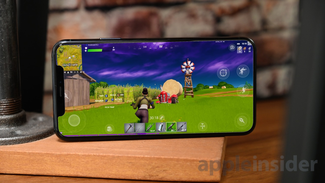 Fortnite on the iPhone 11 Pro Max