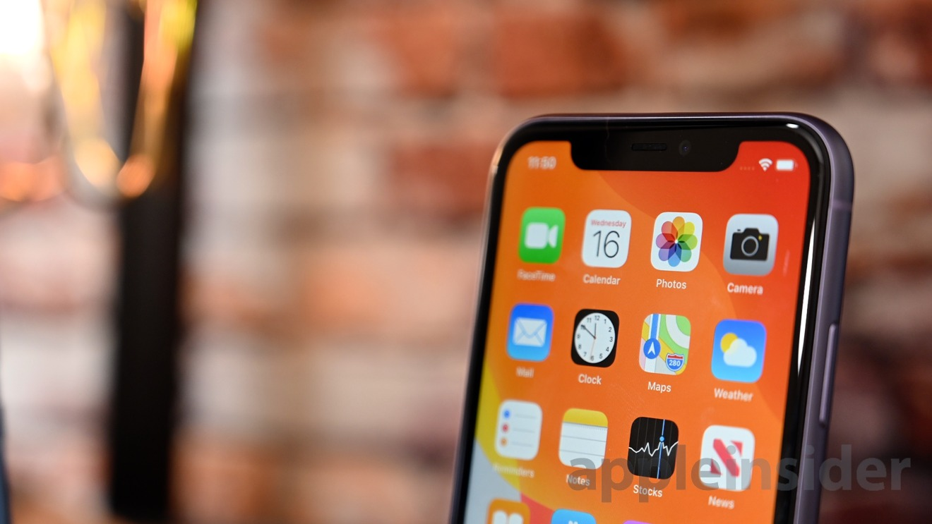 iPhone 11 display and notch