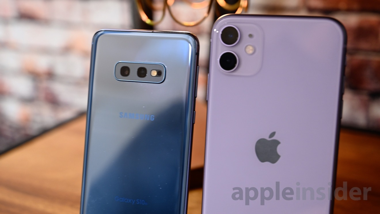 Cameras on iPhone 11 and Galaxy S10e