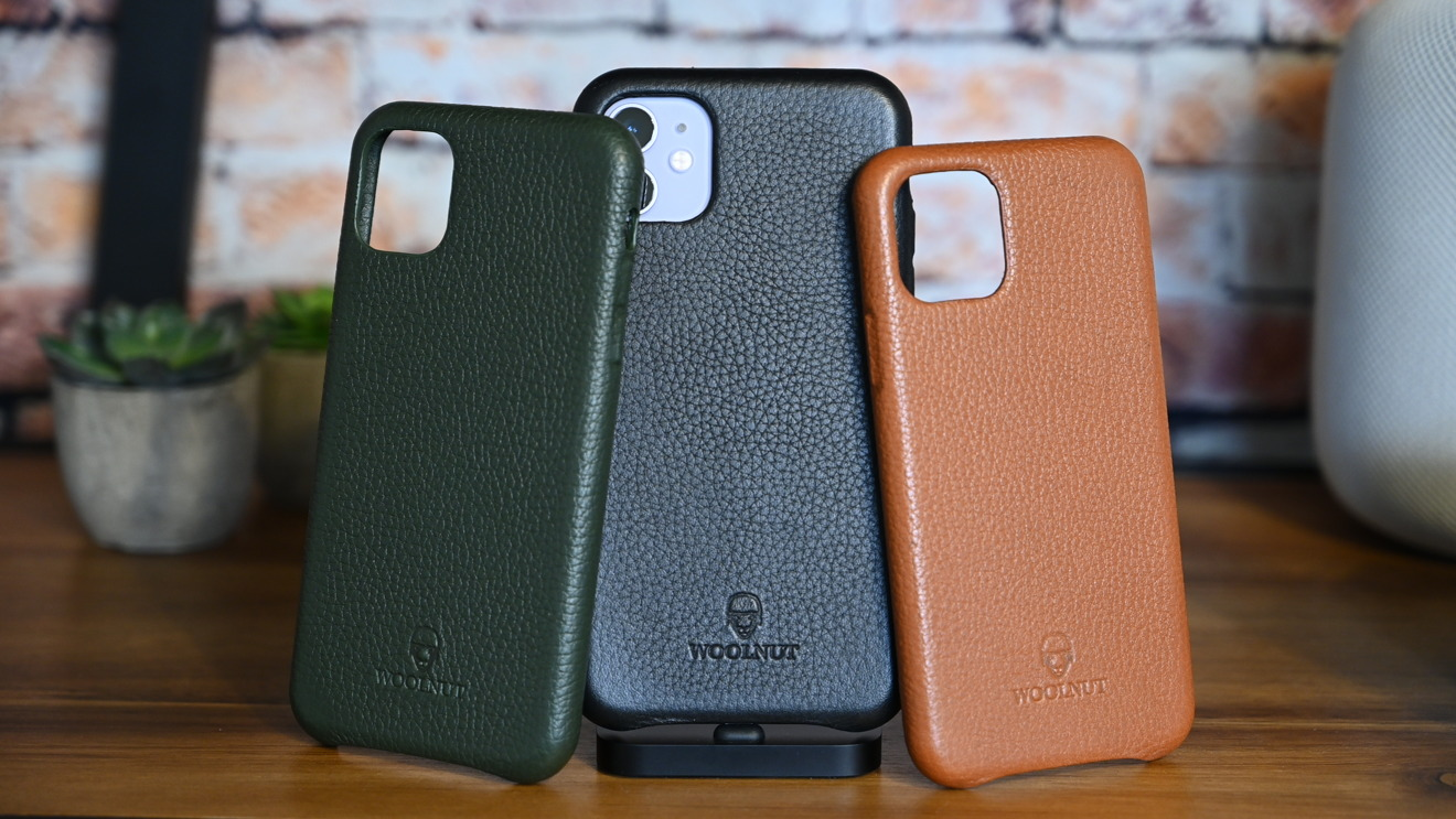 Woolnut leather cases for iPhone 11