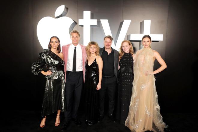 Left to right: Jodi Balfour, Joel Kinnaman, Sarah Jones, Michael Dorman, Wrenn Schmidt, Shantel VanSanten.