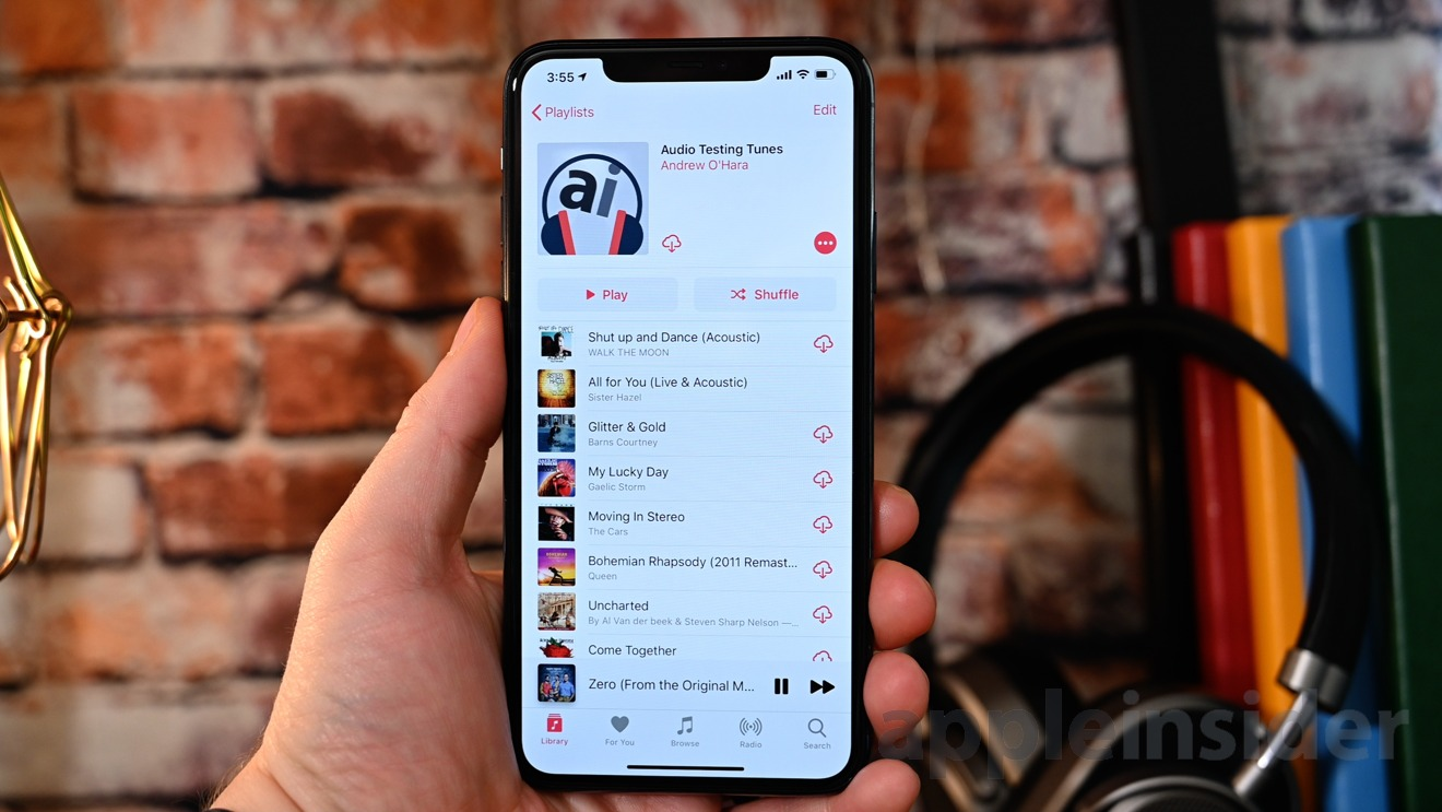 AppleInsider's testing playlist on Apple Music