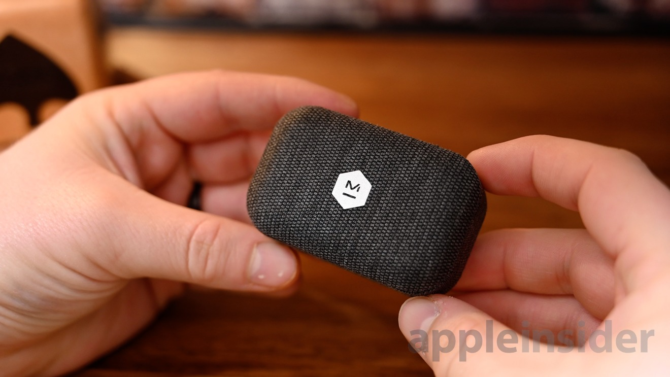 The tactile fabric charging case for the MW07 GO