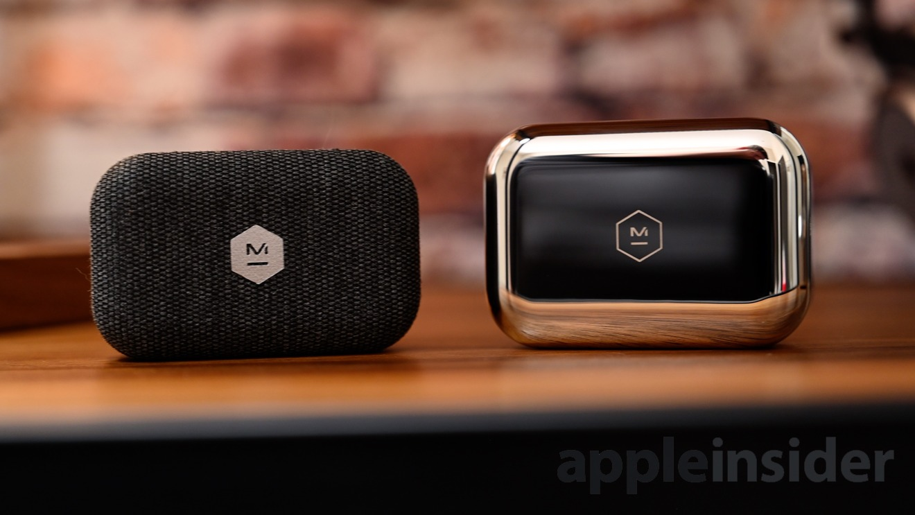 The MW07 GO fabric case (left) and the MW07 Plus stainless case (right)