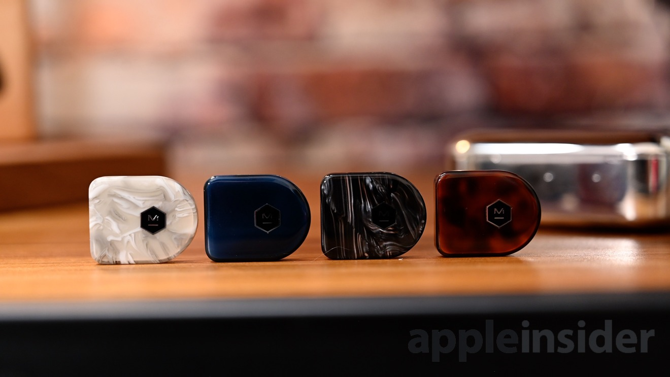 White Marble, Steel Blue, Black Quartz, and Tortoiseshell colorways of the MW07 Plus