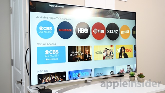 Apple TV Channels in the Apple TV app