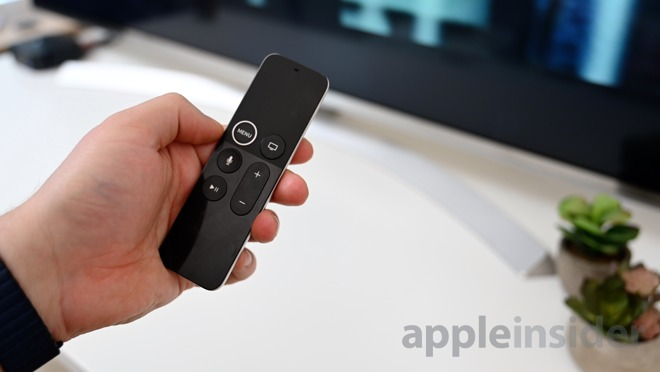 Siri remote for the Apple TV 4K