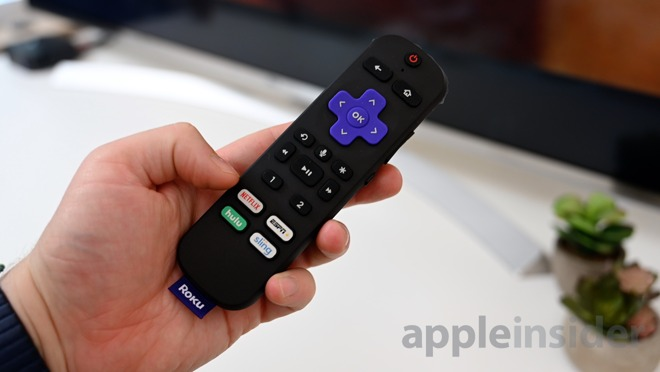 The Roku Ultra remote has a new pair of shortcut buttons —labeled '1' and '2'