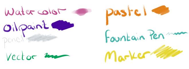 A small sampling of Fresco's tools
