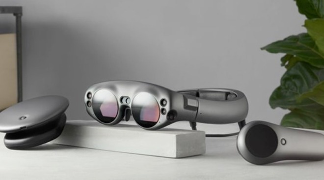 The Magic Leap One Lightwear AR goggles, an example of a headset