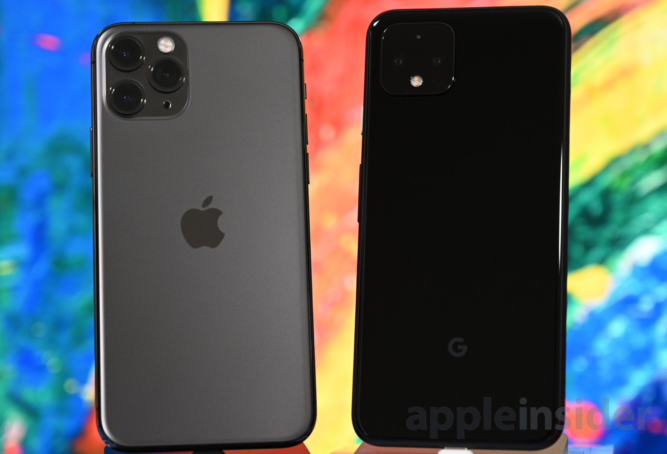iPhone 11 Pro (left) and Pixel 4 (right)