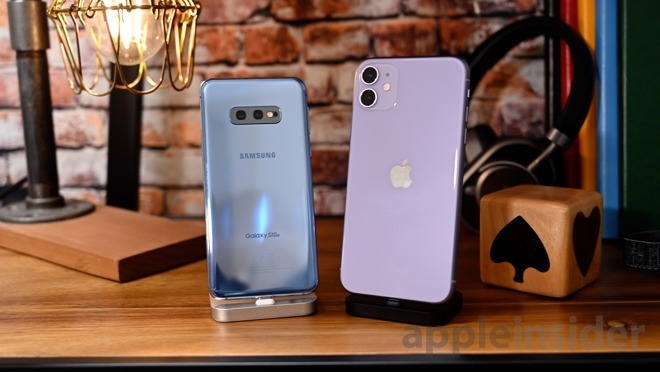Apple iPhone 11 and Samsung Galaxy S10e