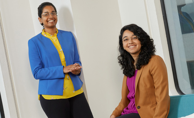 Developers Jhanvi Shriram and Ketaki Shriram on the Apple Entrepreneur Camp