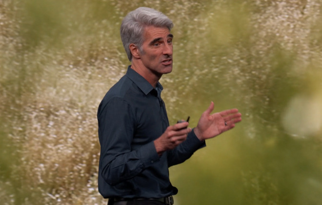 Apple's Craig Federighi at the 2019 WWDC