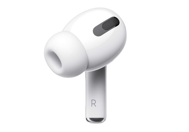 A single AirPod Pro earphone