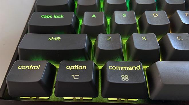 Closeup of the keys