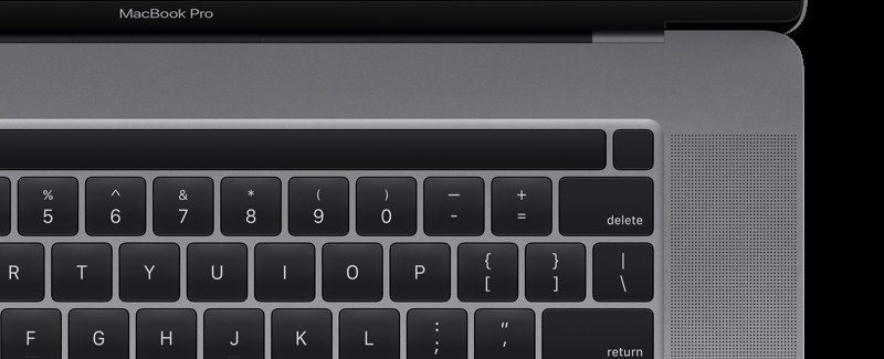 Touch Bar with discrete Touch ID sensor