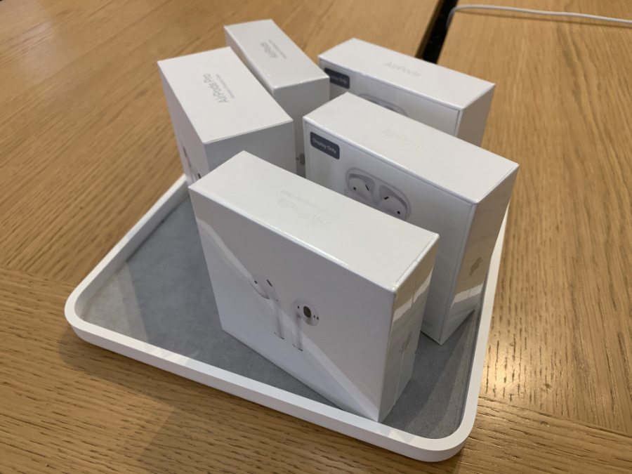 AirPods 2 on sale in an Apple Store