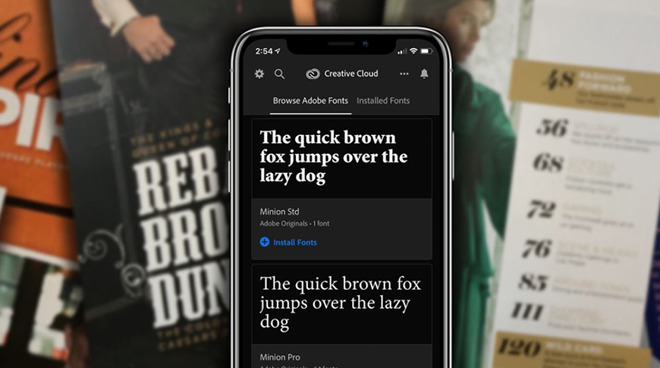Adobe Fonts now available for iOS 13 via the Creative Cloud app
