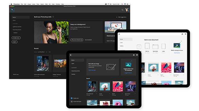 Adobe creative apps on iPad