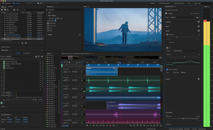 Adobe Audition features performance improvements and better multi-track workflows (Photo: Adobe)