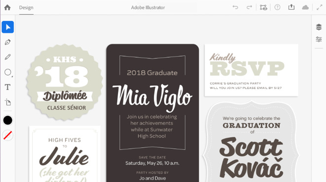 The new Adobe Illustrator 2020 contains new typography features