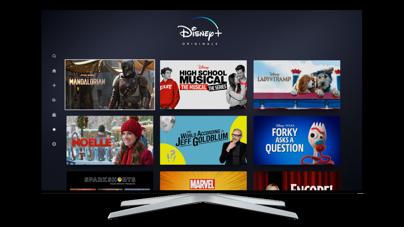 Disney Plus' interface (photo courtesy of Disney)