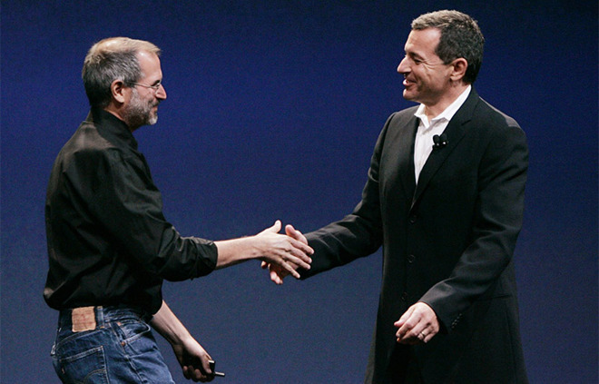 Steve Jobs and Robert Iger