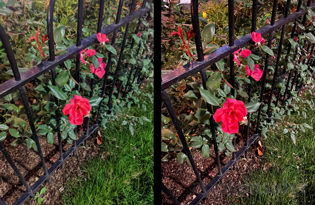 Night mode on Pixel 4 (left) and iPhone 11 Pro (right)