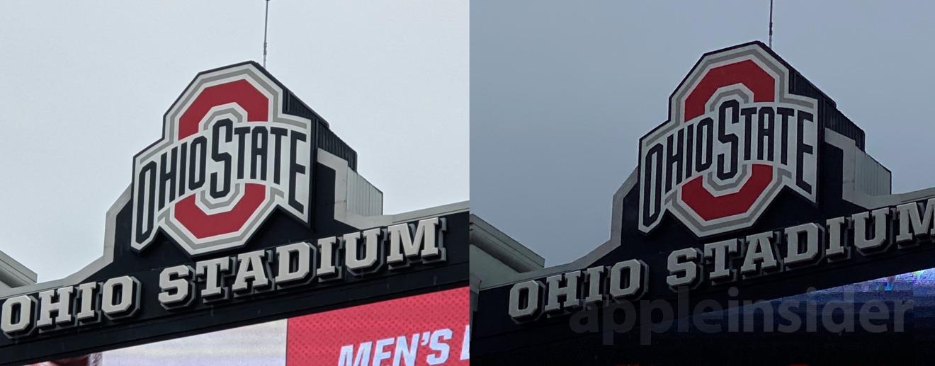 Pixel 4 (left) vs iPhone 11 Pro (right) using tele lens at 8X