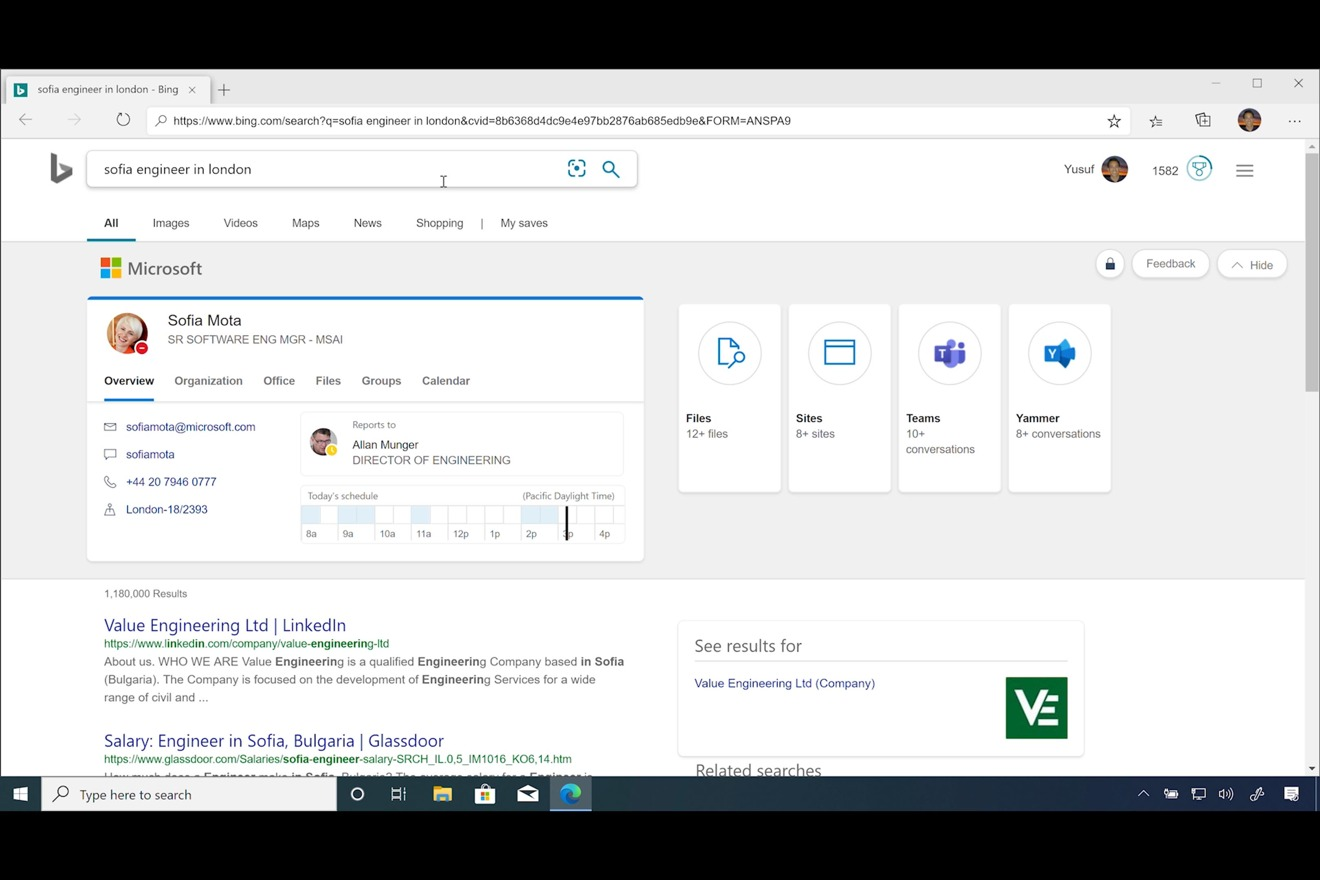Microsoft Edge's release candidate using Chromium, in Windows 10.