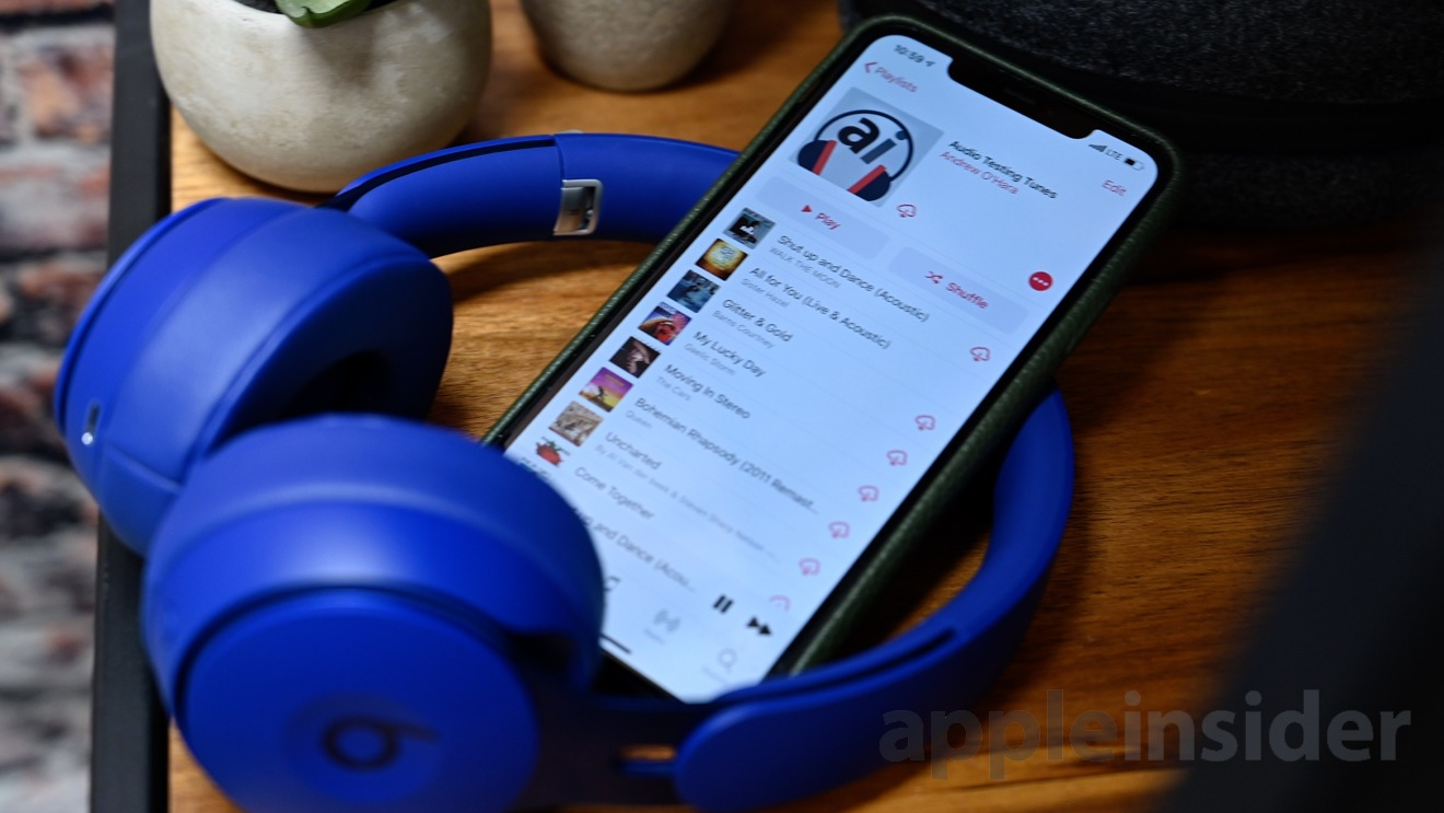 Using AppleInsider's audio testing playlist with the Beats Solo Pro