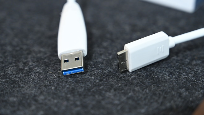 Seagate Backup Plus Portable has a USB-A to USB Micro-B cable