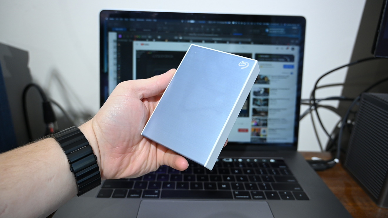 Seagate Backup Plus Portable in hand