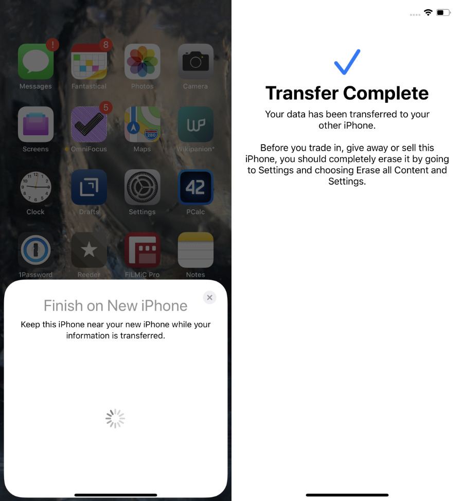 How to transfer data from old to new iPhone