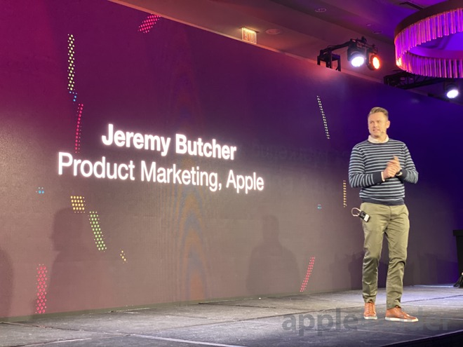 Apple's Jeremy Butcher takes the stage at JNUC 2019