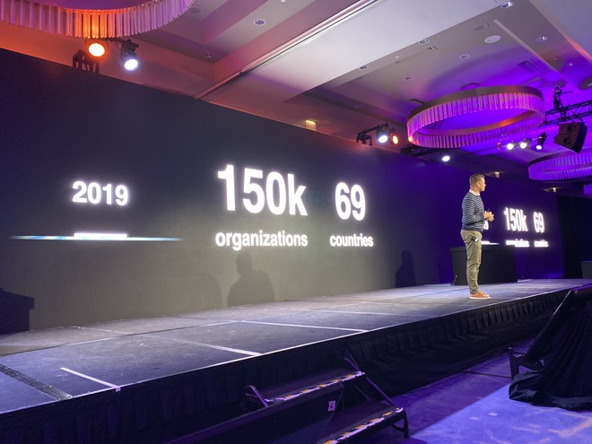 There are 150K customers across 69 countries using Apple Business Manager and Apple School Manager