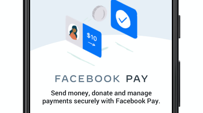 Detail from the new Facebook Pay