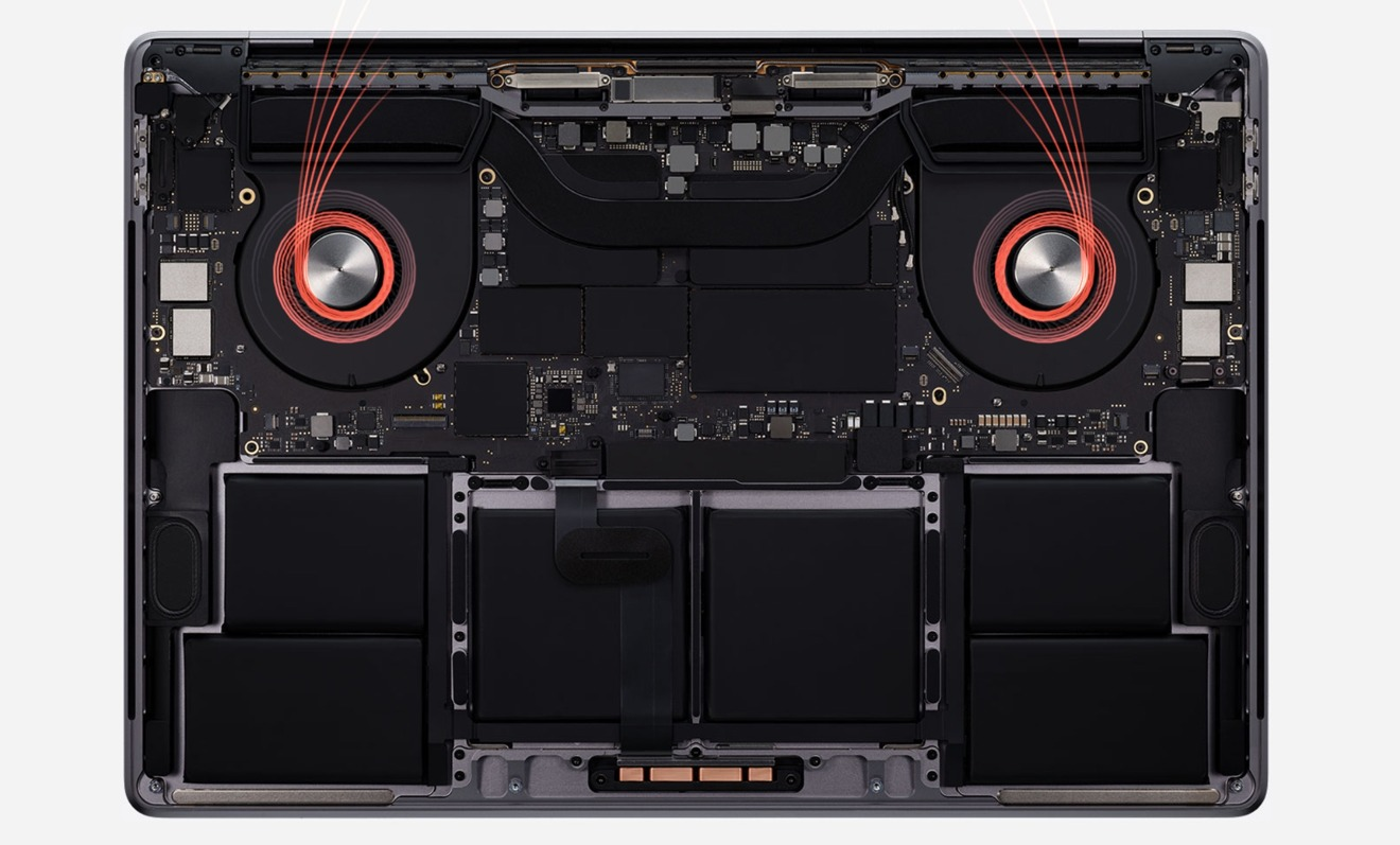 Updated thermals in the 16-inch MacBook Pro