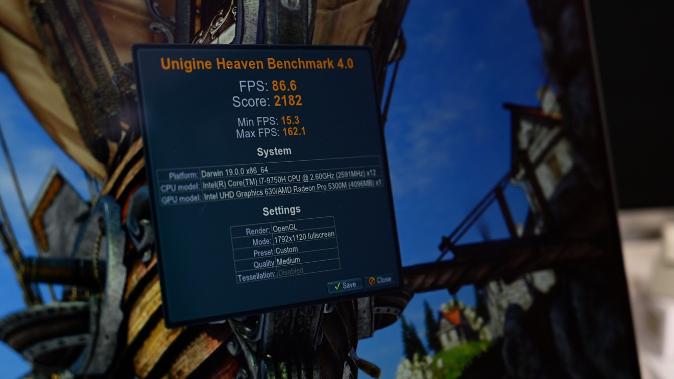 Unigine Heaven benchmark results