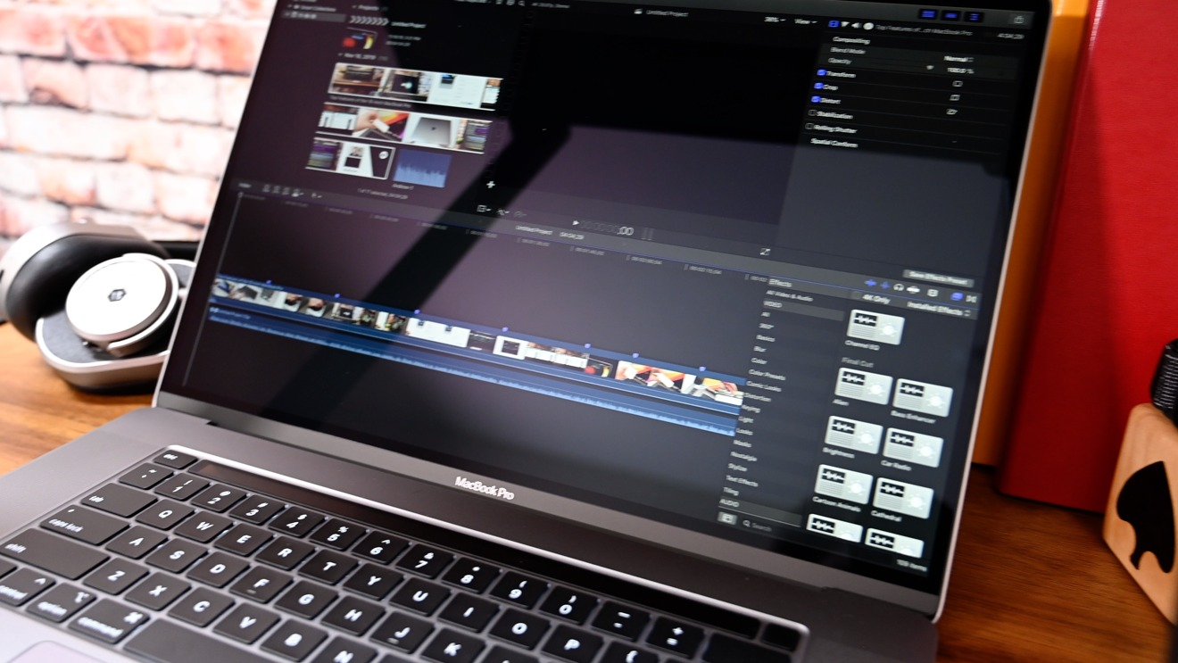Editing in the Final Cut Pro X on the new 16-inch MacBook Pro